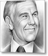 Johnny Carson 14sep18 Metal Print