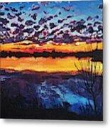 Josey Lake At Sunset Metal Print