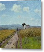 June Morning, View Over The Hills Over Pontoise, 1873 Metal Print