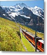 Jungfraubahn, Swiss Alps Metal Print