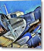 Junkers Ju 52 Art Metal Print