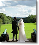 Just Married Looking To The Future Metal Print