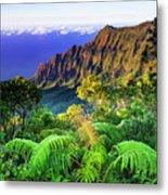 Kalalau Valley And The Na Pali Coast Metal Print