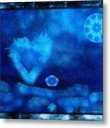 Kaleidoscope Moon For Children Gone Too Soon Number - 4 Cerulean Valentine  Metal Print
