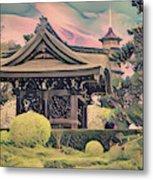 Kanagawa - The Japanese Garden Metal Print
