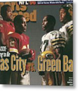Kansas City Chiefs Vs Green Bay Packers, 1996 Nfl Football Sports Illustrated Cover Metal Print