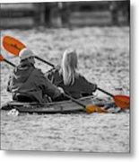 Kayaking Along The Magothy Metal Print