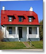 Keeper's House - Presque Isle Light Michigan Metal Print