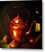 The Red Kettle Metal Print