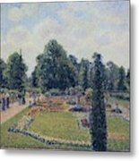 Kew Gardens - Path Between The Pond And The Palm House, 1892 Metal Print