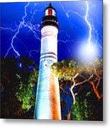 Key West Lightning Light House Metal Print