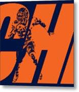 Khalil Mack Chicago Bears City Art Metal Print