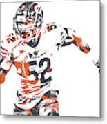 Khalil Mack Chicago Bears Pixel Art 30 Metal Print