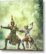 Khon Is Traditional Dance Drama Art Metal Print