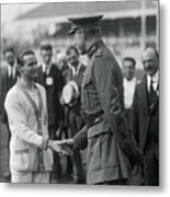 King Albert Congratulating Joseph Metal Print
