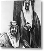 King Ibn Saud And Son Saud Aziz Metal Print