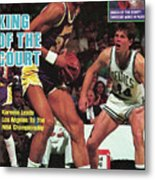 King Of The Court Kareem Leads Los Angeles To The Nba Sports Illustrated Cover Metal Print