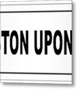 Kingston Upon Hull City Nameplate Metal Print