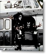 Kiss In Cadillac Metal Print