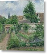 Kitchen Garden, Overcast Morning, Eragny, 1891  Metal Print