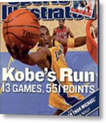 Kobes Run 13 Games, 551 Points Sports Illustrated Cover Metal Print