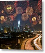 Kuala Lumpur Night View During Metal Print