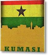 Kumasi Ghana World City Flag Skyline Metal Print
