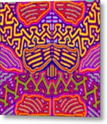 Kuna Butterfly Metal Print