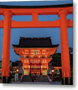 Kyoto Torii Gate Metal Print