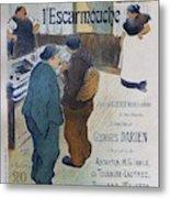 L Escarmouche, 1893 French Vintage Poster Metal Print