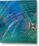 Labyrinth Of Words Metal Print