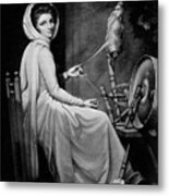 Lady Hamilton As The Spinstress Metal Print