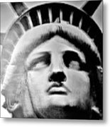 Lady Liberty In Black And White1 Metal Print