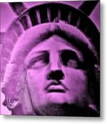 Lady Liberty In Pink Metal Print