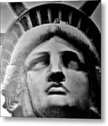 Lady Liberty Red White And Blue Metal Print