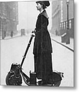 Lady Normans Scooter Metal Print