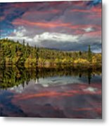 Lake Bodgynydd Sunset Metal Print