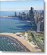 Lake Michigan By Chicago Skyline Metal Print