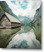 Lake Obersee Boat House Metal Print