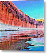 Lake Powell With Cliff Reflections Metal Print