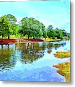 Lake Reflections On A Sunny Day Metal Print