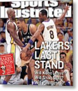 Lakers Last Stand Will Kobe Leave Whill Shaq Stay Will Phil Sports Illustrated Cover Metal Print