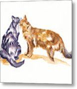L'amour - Cats In Love Metal Print