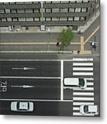 Land Vehicles Crossing Pedestrian Metal Print