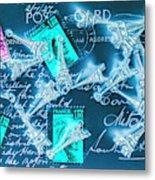 Landmark Love Letter Metal Print
