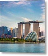 Landscape Of The Singapore Financial Metal Print