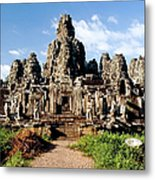Landscape Photo Of Bayon Temple In Metal Print