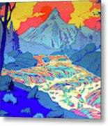 Landscape River Metal Print