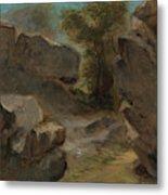 Landscape With Rocks  Augerville  Metal Print