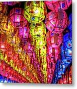 Lanterns Hanging Metal Print